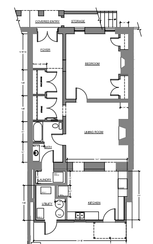 Floor Plan for Beautifully Renovated Garden Apartment in a Great Location Close to Forsyth Park