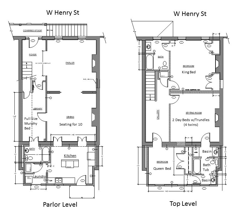 Floor Plan for Beautifully Renovated Town Home in a Great Location Close to Forsyth Park